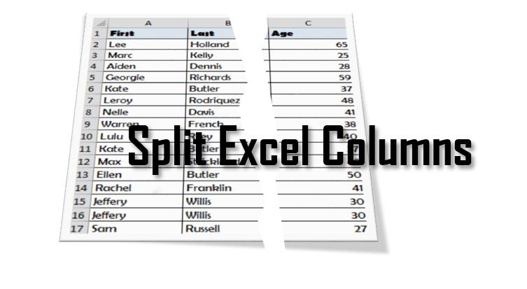 How to Split Cells in Excel. How to Split Excel Columns.