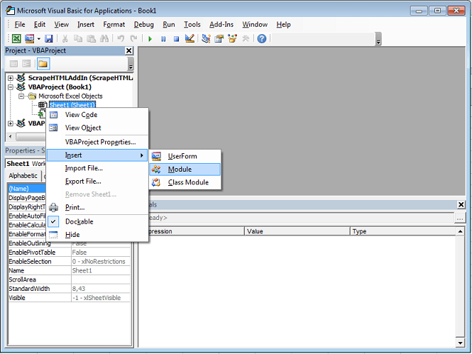 Excel VBA Tutorial: Inserting a new UserForm