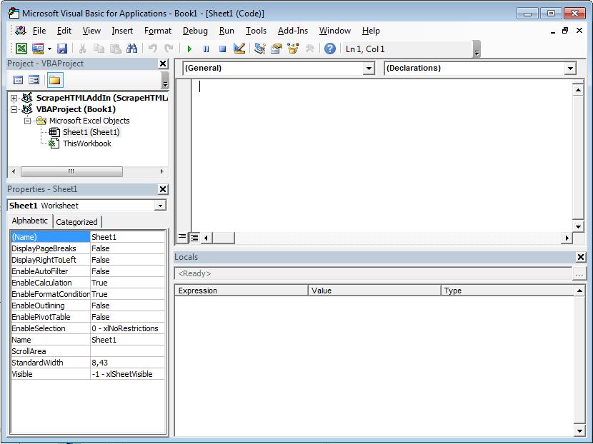 Excel VBA Tutorial: The VBA editor window
