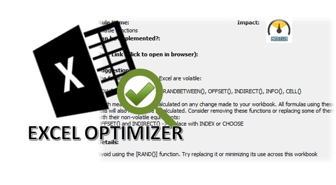 Optimize Excel formulas with the Excel Optimizer!