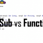 Excel VBA Function vs VBA Sub - Excel Functions and Procedures