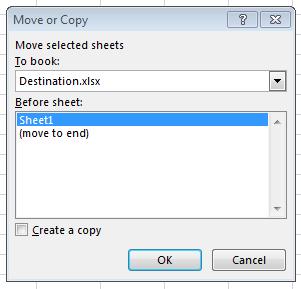 Copy Worksheet to destination Workbook