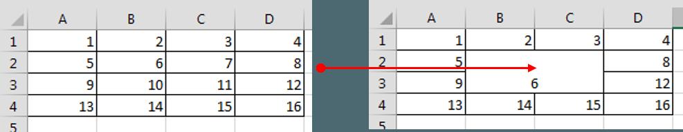 Excel Range Merged cells