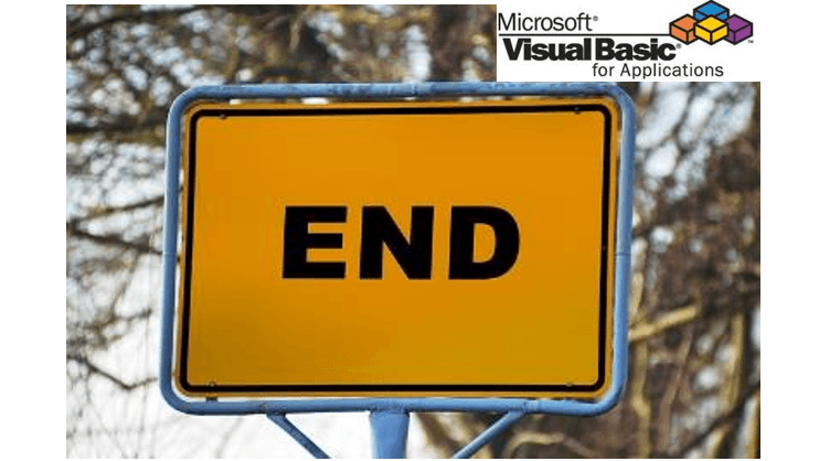 VBA End - Exit or Reset VBA macro
