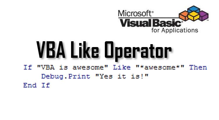 vba like operator