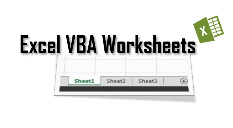excel vba worksheets tutorial