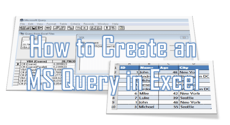 How to create a Microsoft Query in Excel (Excel Query)