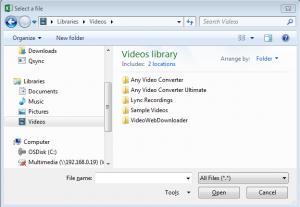 select file filedialog