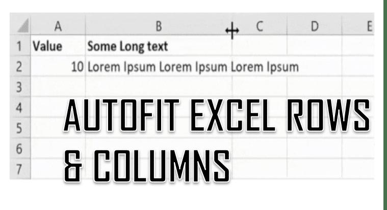 Excel AutoFit Excel Rows and Columns