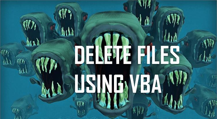 vba delete files header