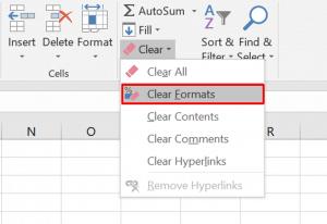 Excel Clear Formatting