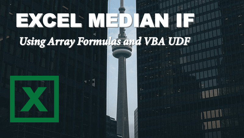 Excel MEDIAN IF – Median with criteria in Excel